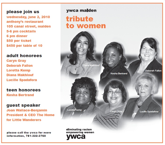 Image of Flyer for 2010 YWCA Tribute to Women