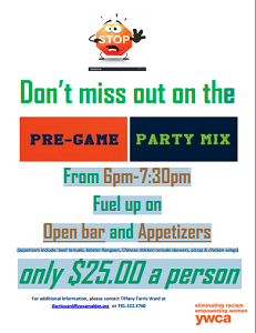 image of pre-game flyer